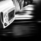 Presión sobre salud Mirada artística en blanco y negro Imagen de archivo libre de regalías