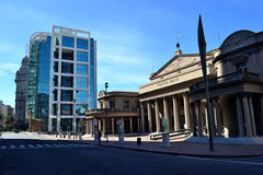 Presidence大厦和Solis剧院 免版税图库摄影