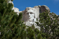 President Abraham Lincoln. Carved in Mount Rushmore stock photos