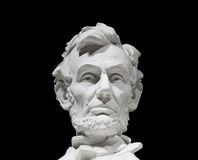President Abraham Lincoln. This is President Lincoln's bust with a black background Royalty Free Stock Image