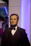 PRESIDENT ABRAHAM LINCOLN WAX FIGURE. In Dalian Golden Pebble Beach Wax Museum Stock Images