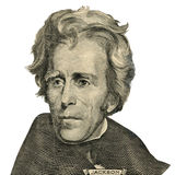 President Andrew Jackson portrait. (Clipping path) Stock Images