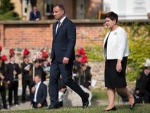 President Andrzej Duda en Eerste minister Beata Szydlo Stock Foto