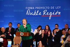 President av Chile royaltyfria bilder