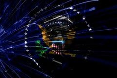President av de abstrakta fyrverkerierna för Förenta staterna som mousserar flaggan Nytt år, jul och begrepp för nationell dag Fö vektor illustrationer