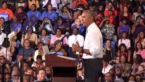 President av det USA Barack Obama mötet med studenter av Florida arkivfilmer