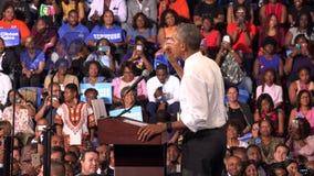 President av det USA Barack Obama mötet med studenter av Florida stock video