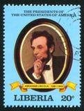 President av Förenta staterna Abraham Lincoln Fotografering för Bildbyråer