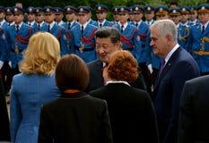 President av People'sen Republiken Kina XI Jinping på ett officiellt tre-dag besök till republiken av Serbien Royaltyfria Foton