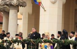 President av Rumänien - Iohannis Arkivfoto