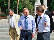 President av Ukraina Leonid Kuchma Royaltyfria Foton
