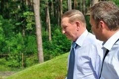President av Ukraina Leonid Kuchma Arkivfoton