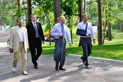 President av Ukraina Leonid Kuchma Royaltyfria Bilder