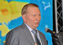 President av Ukraina Leonid Kuchma Arkivbilder