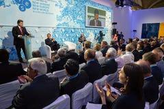 President av Ukraina Petro Poroshenko på det 11th årsmötet Royaltyfria Foton