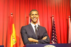 President Barack Hussein Obama, vaxstaty, vaxdiagram, waxwork Royaltyfria Bilder