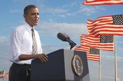 President Barack Obama Arkivbild
