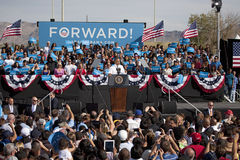President Barack Obama appears at Presidential Campaign Rally, Royalty Free Stock Photo