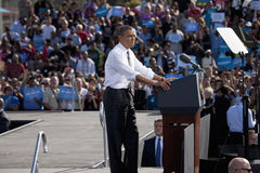 President Barack Obama appears at Presidential Campaign Rally, Stock Photos