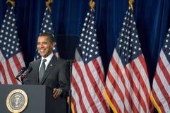 President Barack Obama in Arizona. MESA, AZ - FEBRUARY 18: President Barack Obama speaks about the home mortgage crisis at Dobson High School on  February 18 Stock Image