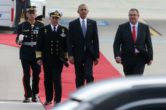 President Barack Obama arrives at the Athens Royalty Free Stock Image