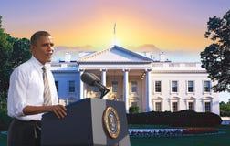 President Barack Obama. Composite portrait taken in November, 2012 during 2012 Presidential Campaign, Las Vegas, Nevada Stock Images
