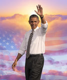 President Barack Obama. Composite portrait taken in November, 2012 during 2012 Presidential Campaign, Las Vegas, Nevada Stock Image