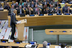 President Barack Obama hosted a Leaders' Summit on the Global Refugee Crisis on the margins of UN GA 71 Stock Photos