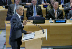 President Barack Obama hosted a Leaders' Summit on the Global Refugee Crisis on the margins of UN GA 71 Stock Photo