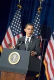 President Barack Obama i Arizona Arkivbilder