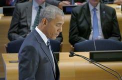 President Barack Obama ontving een Top van Leiders op de Globale Vluchtelingscrisis op de marges van UNGA 71 Stock Foto