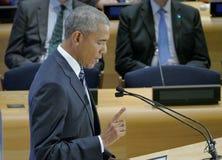 President Barack Obama ontving een Top van Leiders op de Globale Vluchtelingscrisis op de marges van UNGA 71 Stock Fotografie