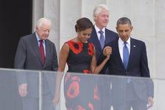 President Barack Obama, presidentsfru Michelle Obama Royaltyfria Foton