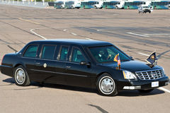 President Barack Obama's limousine Stock Photography