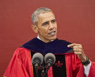 President Barack Obama speaks at 250th Anniversary Rutgers University Commencement Stock Images