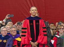 President Barack Obama speaks at 250th Anniversary Rutgers University Commencement. President Barack Obama received an honorary Doctor of Laws degree and Stock Photography
