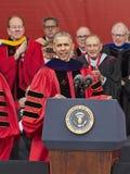 President Barack Obama spreekt bij het 250ste Universitaire Begin van Verjaardagsrutgers Stock Afbeeldingen