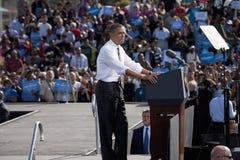 President Barack Obama verschijnt bij Presidentiële Campagneverzameling, Stock Foto's