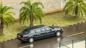President Barak Obama leaves the African Union Commission in his Royalty Free Stock Photos