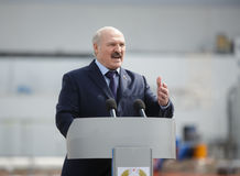 President of Belarus Alexander Lukashenko. CHERNOBYL, UKRAINE - Apr 26, 2017: President of Belarus Alexander Lukashenko take part in the events on the Royalty Free Stock Photos