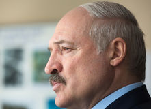 President of Belarus Alexander Lukashenko. CHERNOBYL, UKRAINE - Apr 26, 2017: President of Belarus Alexander Lukashenko take part in the events on the Royalty Free Stock Image