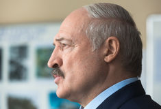President of Belarus Alexander Lukashenko. CHERNOBYL, UKRAINE - Apr 26, 2017: President of Belarus Alexander Lukashenko take part in the events on the Royalty Free Stock Images