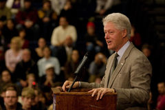President Bill Clinton. Rallying for the Democratic presidential candidate Hillary Rodham Clinton stock images