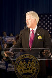 President Bill Clinton dat toespraak geeft Stock Fotografie