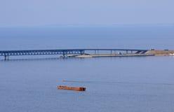 President Bridge in Ulyanovsk stock foto's