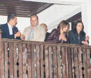 President of Bulgaria on Nestenar games in the village of Bulgarians Stock Photos