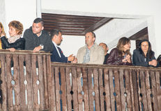 President of Bulgaria Rumen Radev at the Nestenar Games in the village of Bulgari, Bulgaria Royalty Free Stock Photos