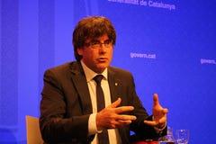 President Carles Puigdemont efter Barcelona terroristic attack Fotografering för Bildbyråer