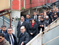 The president of the Chamber Boldrini visit Scampia - Italy Royalty Free Stock Photos