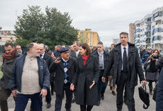 The president of the Chamber Boldrini visit Scampia - Italy Stock Photo
